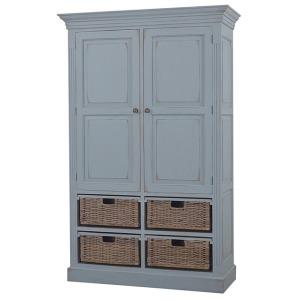 Sonoma Storage Cabinet W/ Baskets - Weathered Ocean Blue
