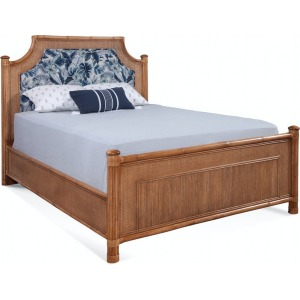 Arched Upholstered Queen Bed