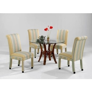 Fabric Dining Chair With Casters