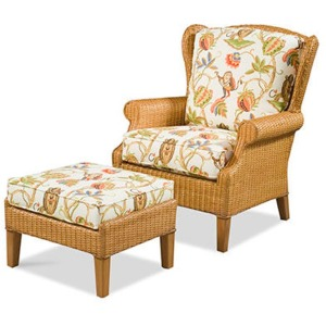Havana Wing Chair & Ottoman
