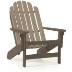 Shoreline Adirondack Chair - Chocolate & Weatherwood
