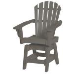 Coastal Swivel Dining Chair - Slate & Gray