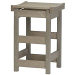 Counter Stool with Contoured Seat - Slate & Weatherwood