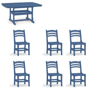 7PC Dining Set - Colonel Blue