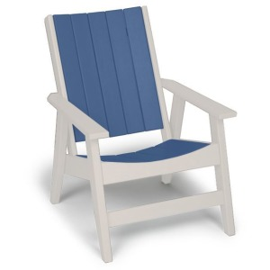 Chill Chat Chair - White & Colonial Blue