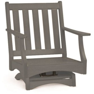 Piedmont Club Swivel Rocker - Slate