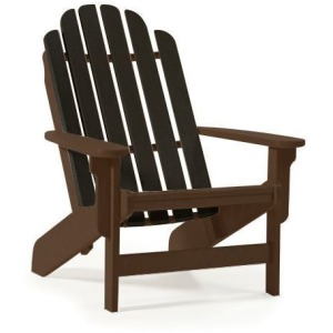 Shoreline Adirondack Chair - Mocha & Black