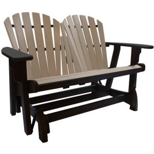 Coastal Double Glider - Black & Weatherwood