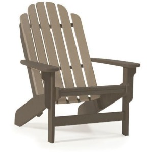 Shoreline Adirondack Chair - Chocolate & Weatherwood