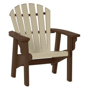 Coastal Upright Adirondack Chair - Mocha & Sandstone
