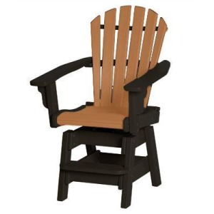 Coastal Swivel Counter Chair - Black & Cedar