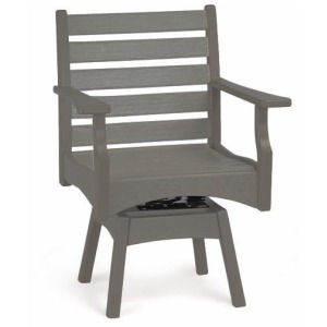 Piedmont Dining Swivel Rocker - Slate & Gray