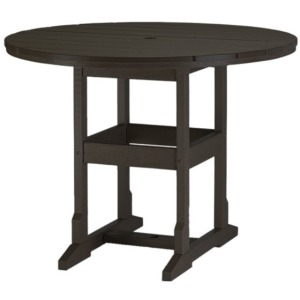 "48"" Round Counter Height Table - Black & Cedar"