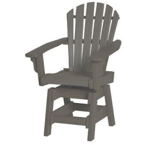 Coastal Swivel Dining Chair - Slate & Gray