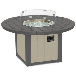 "Elementz Fire & Ice Table, 48"" Round - Slate & Sandstone"