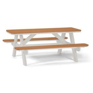 6' Picnic Table with Umbrella Hole - White Cedar