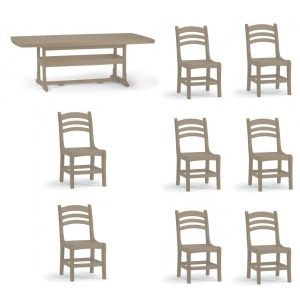 9 PC Outdoor Dining Set