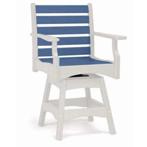 Piedmont Swivel Counter Chair - White & Colonial Blue