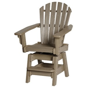 Coastal Swivel Counter Chair