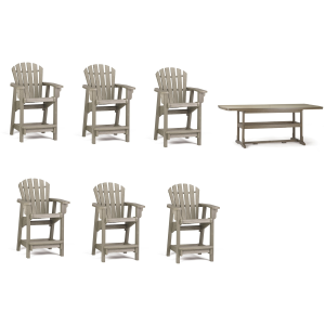 Coastal 7PC Counter Height Outdoor Dining Set