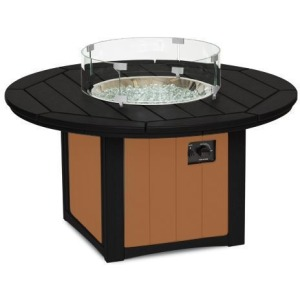 "Elementz Fire & Ice Table, 48"" Round - Black & Cedar"