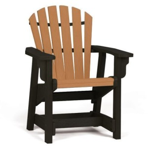 Coastal Dining Chair - Black & Cedar