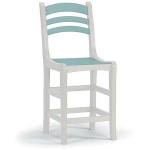 Avanti Counter Side Chair - White & Seaglass