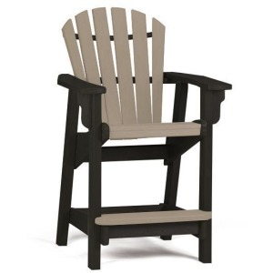 Coastal Counter Chair - Black & Weatherwood