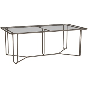 "Walter Lamb Aluminum 43""x77"" Rectangular Dining Table"