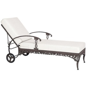 Adjustable Chaise w/ Wheels, Loose Cushion