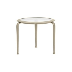 21\'\' Occasional Table, Glass or Perforated Top (glass top shown)