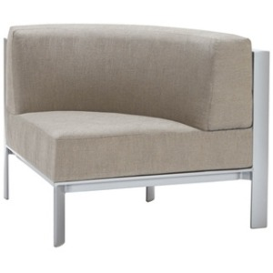 Quarter Round Sectional, Loose Cushions