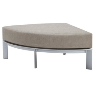 Quarter Round Ottoman, Loose Cushion