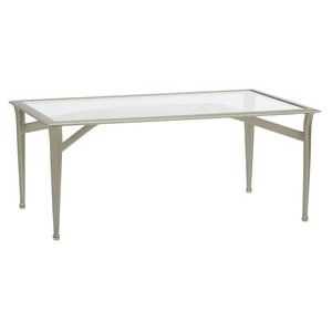 28\'\' x 45\'\' Coffee Table, Glass or Perforated Top (glass top shown)