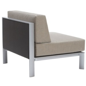 Center Sectional w/ Woven Panel, Loose Cushions