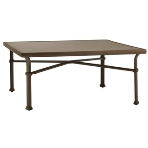 "44"" Square Chat Table w/ Aluminum Top"