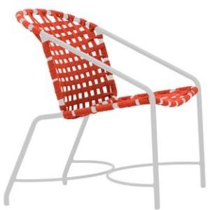 Katan Aluminum Suncloth Arm Chair, Suncloth Lace