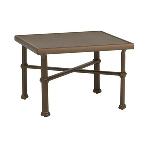 "26"" x 26\"" Occasional Table, Aluminum Top"