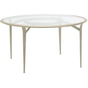 54'' Dining Table, Glass or Perforated Top (glass top shown)