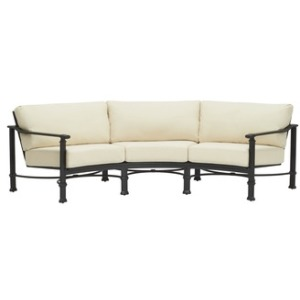 Curved Sofa w/ Loose Cushions