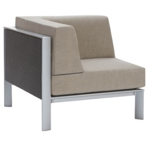 Corner Sectional w/ Woven Panel, Loose Cushions