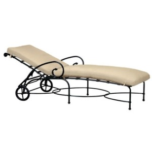 Adjustable Chaise with wheels, Loose Cushion