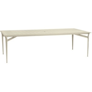 45'' x 99'' Umbrella Table, (no umbrella hole) (aluminum top shown)