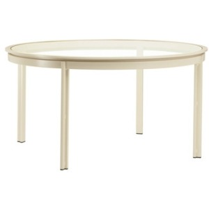 54'' Dining Table (no umbrella hole), Glass or Aluminum Top (glass top shown)