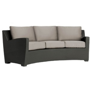 Curved Sofa w/ Loose Cushions - Slim Back