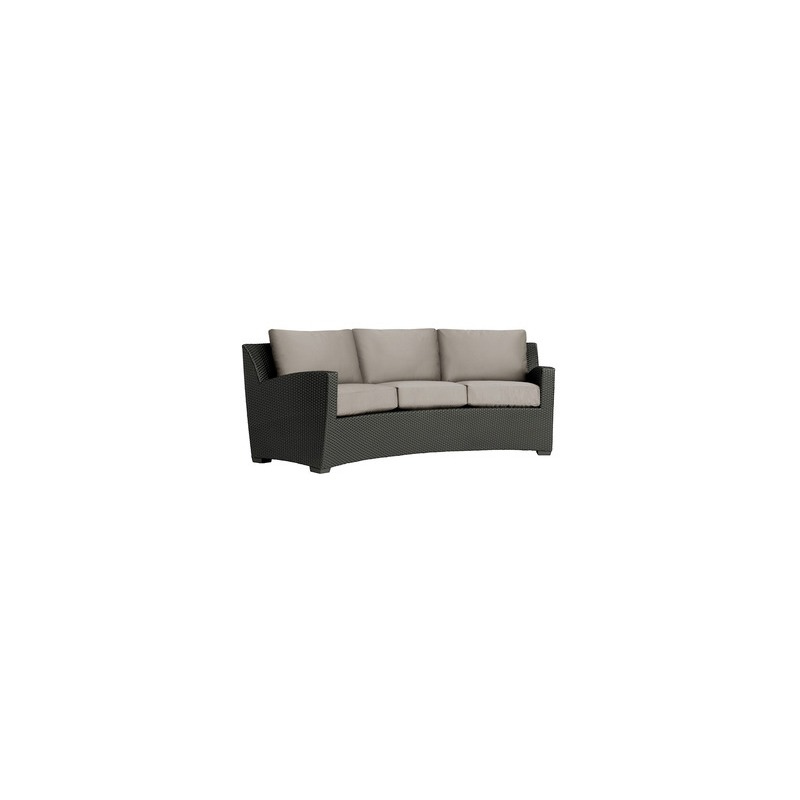 Curved Sofa, Loose Cushions - Pillow Back