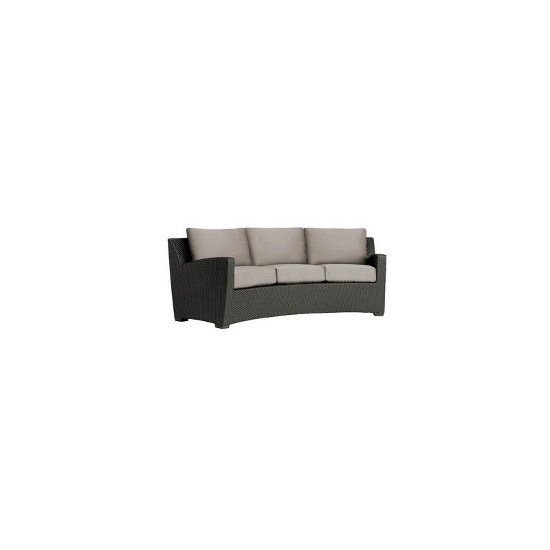 Curved Sofa w/ Loose Cushions - Slim Back
