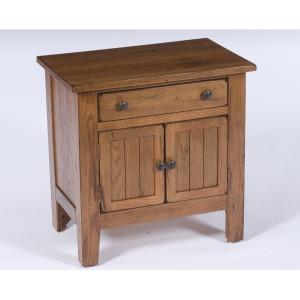 Attic Heirlooms Door Nightstand, Natural Oak Stain