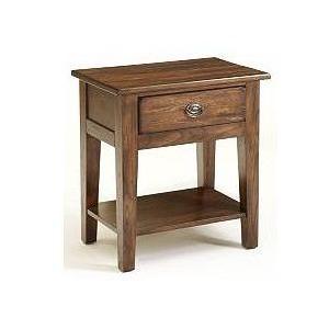 Attic Heirlooms Nightstand, Rustic Oak Stain