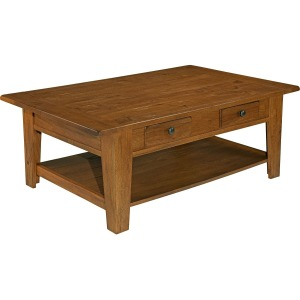 Attic Heirlooms Cocktail Table, Natural Oak Stain